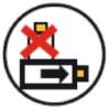Symbole liegend transportieren/lagern