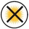 Symbole Keine direkte Sonneneinstrahlung