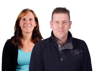 Produktspezialisten Lowie Smolders & Caroline Polzin