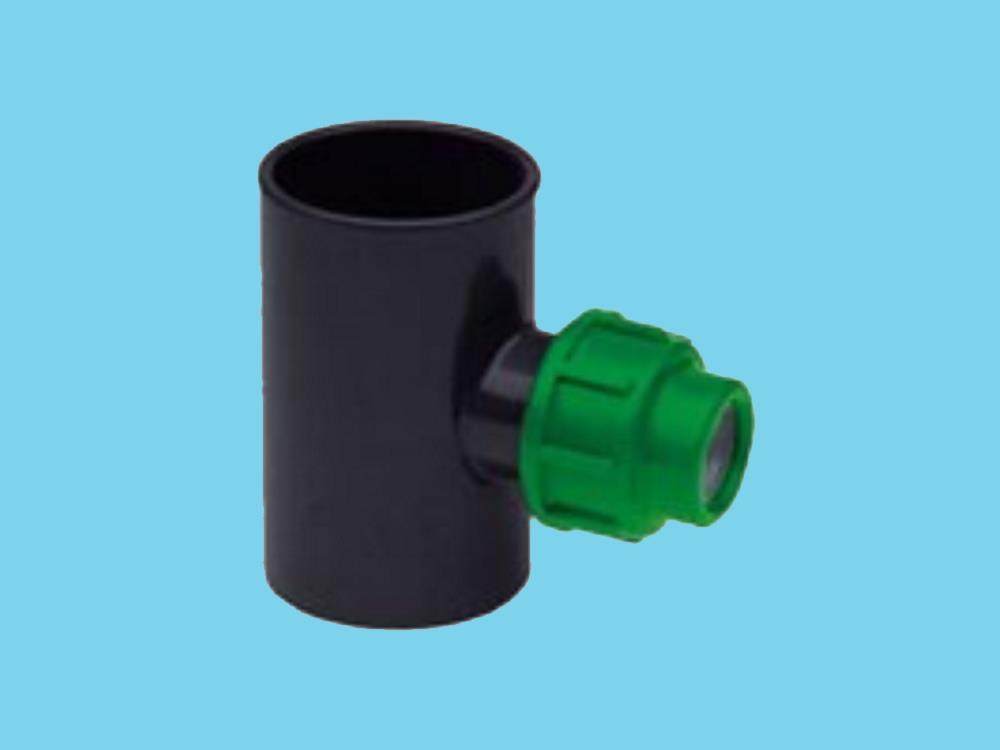 Substrat T-Stück PVC 63 x PE 20 x PVC 63 gerade