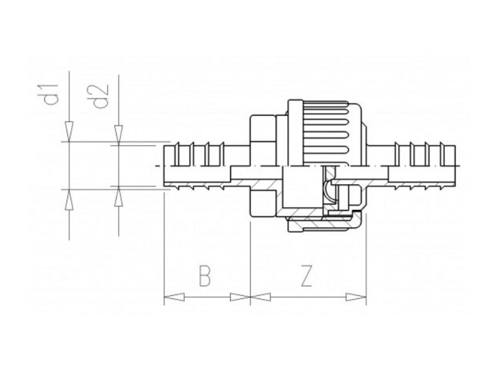Rückschlagventil PE 16mm