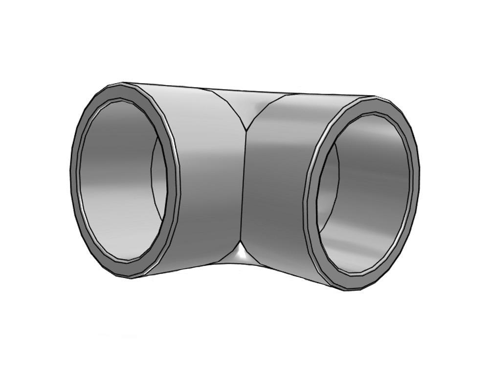 PVC Knie 50 x 50mm 90
