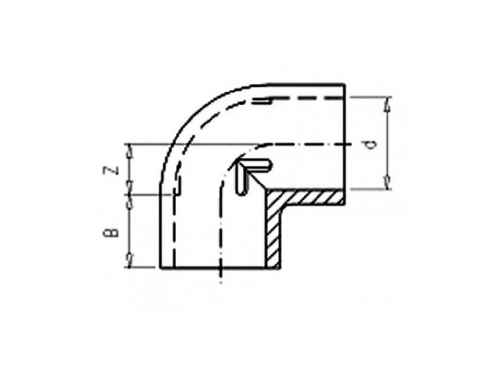 PVC Knie 75 x 75mm 90