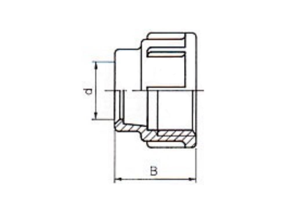 PE Überwurfmutter für PE Kupplung 32mm