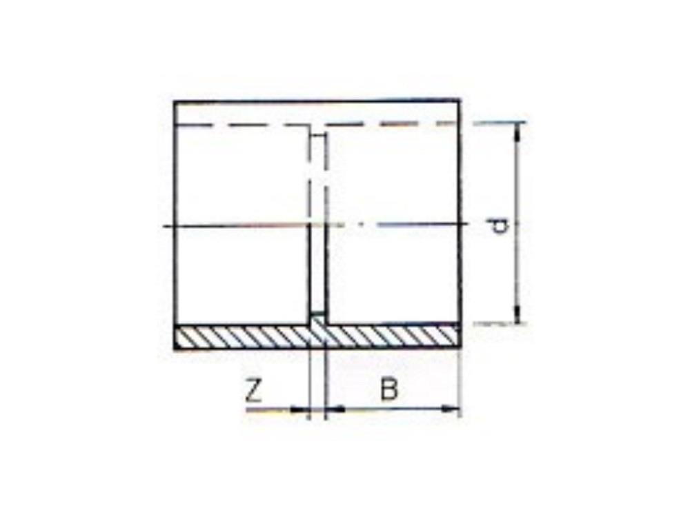 PVC Muffe 50 x 50mm 16bar Klebeverbindung