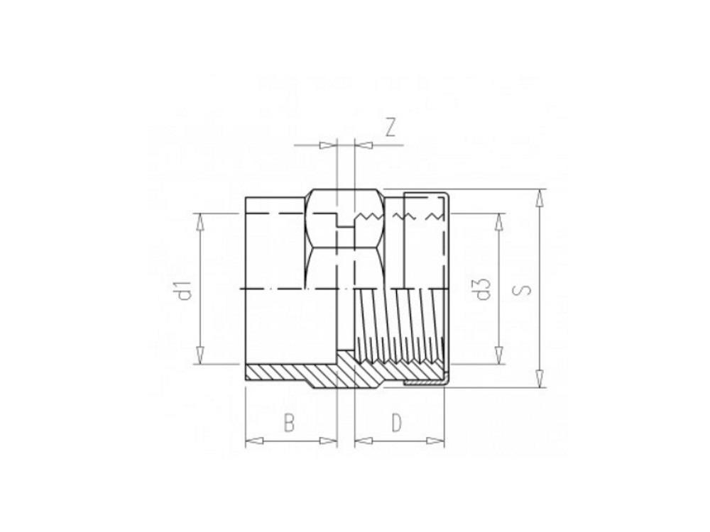 pvc Gewindemuffe 63mm x 2