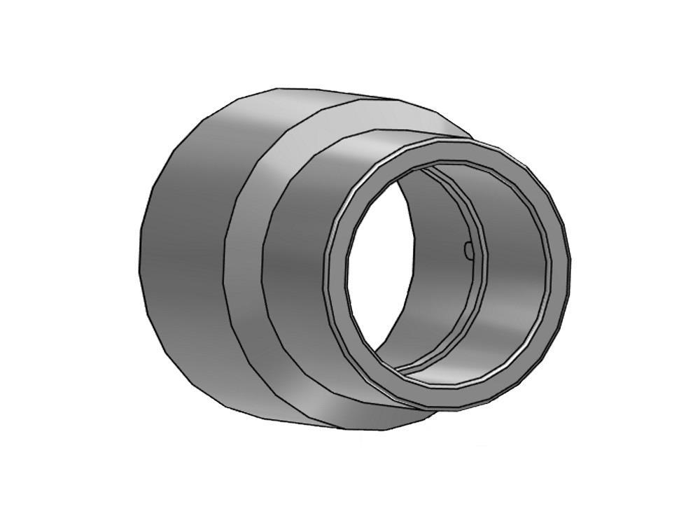 PVC  (EINSATZ)REDUKTIONSMUFFE 63/50 X 25