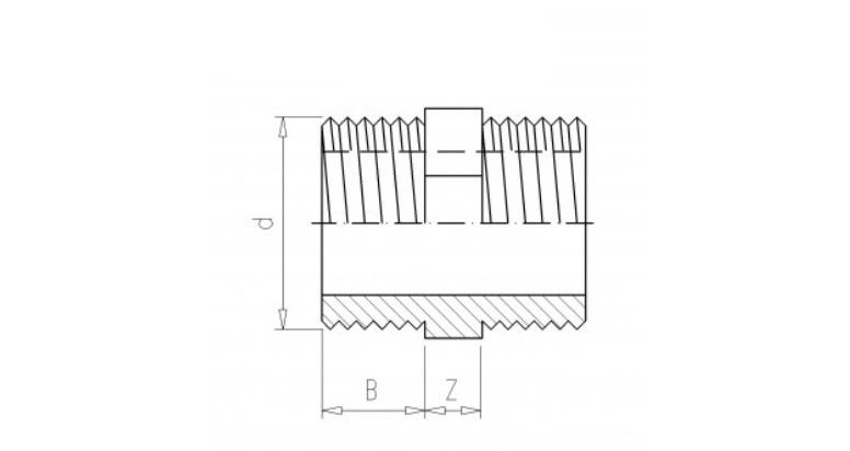 PVC Gewindenippel 1