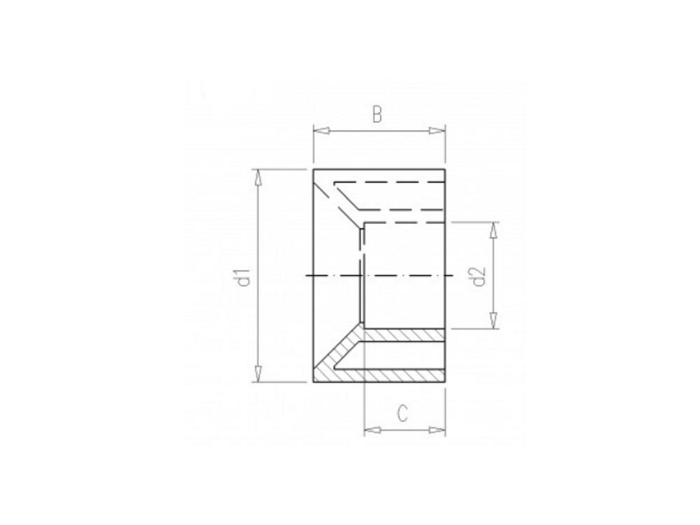PVC Gradientenringe 75 x 50mm 16bar