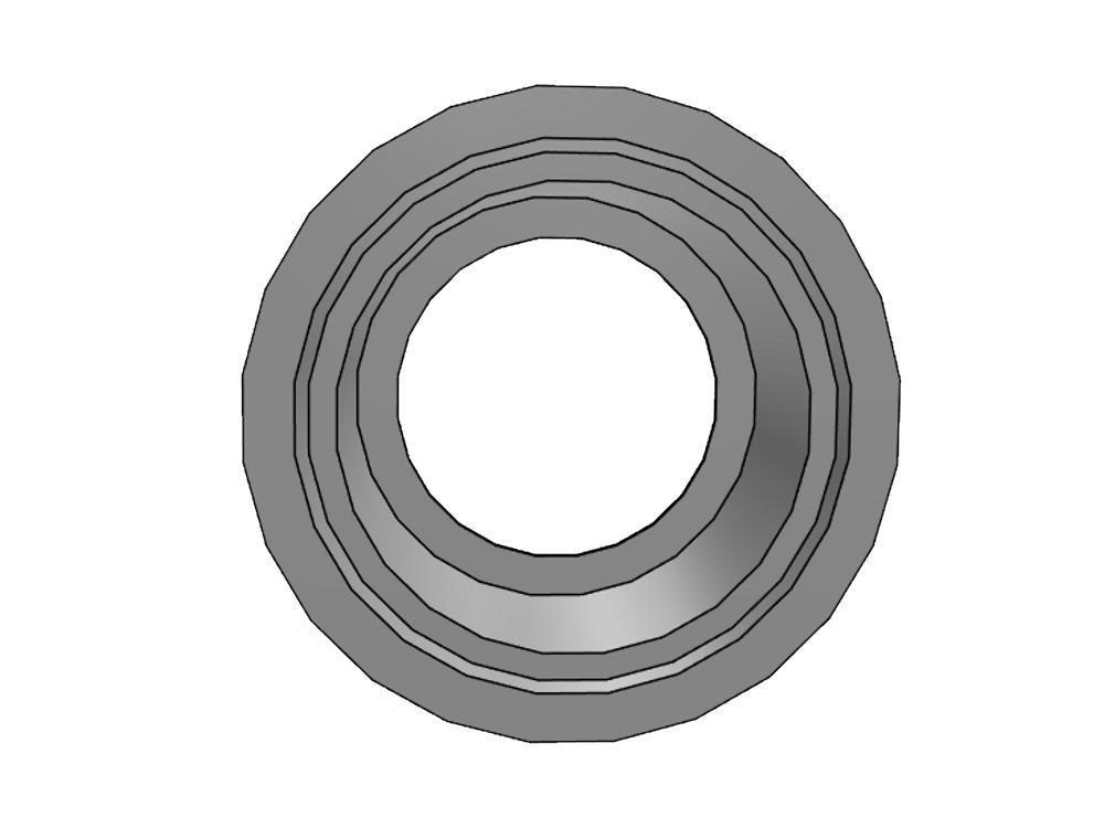 PVC Gradientenringe 160 x 90mm 16bar