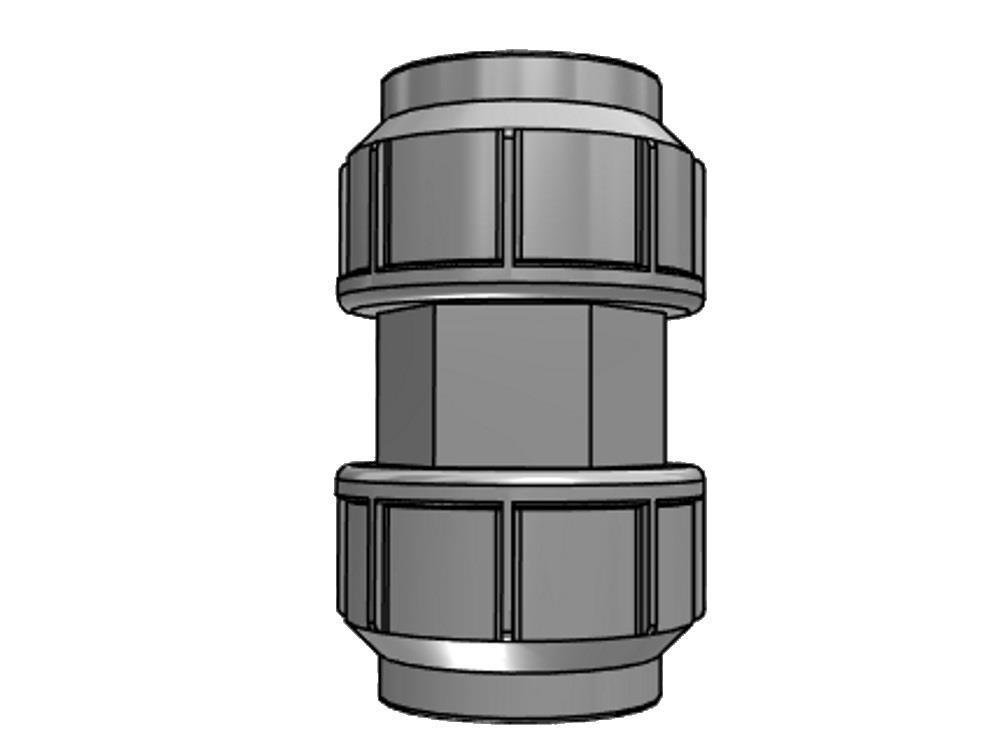 PE Kupplung 20 x 20mm 10bar