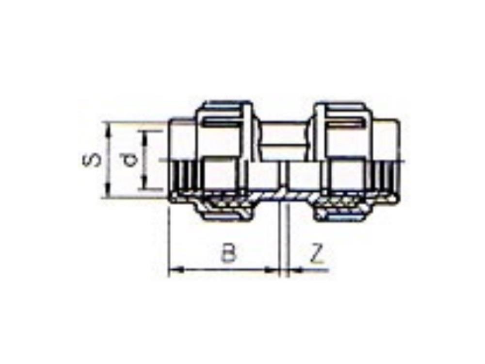 PE Kupplung 25 x 25mm 10bar