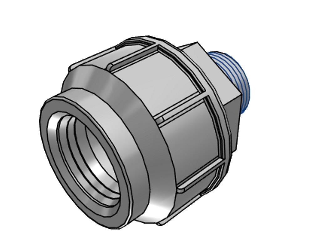 PE Kupplung 20mm x1/2' 10bar Außengewinde