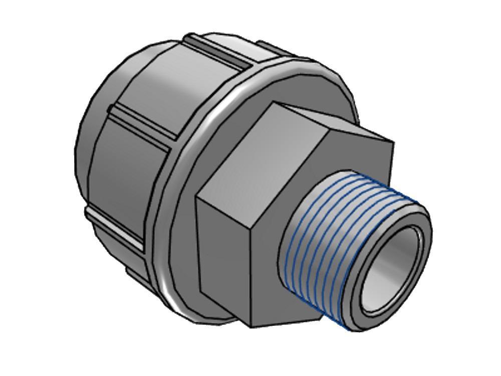 PE Kupplung 25mm x 1