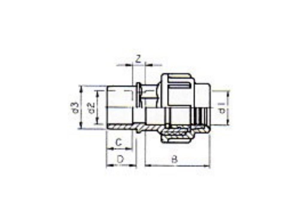 PE Kupplung 25mm x PVC 25-32mmn
