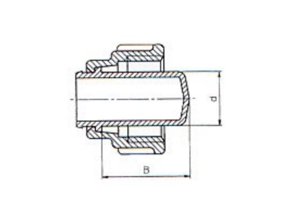 PE Fittingstop für PE Kupplung 32mm