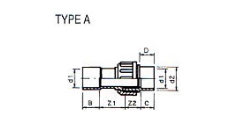 3/3 PVC Sprinklerkupplung 32mm x 1-1/4
