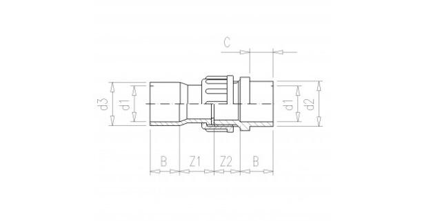 3/3 PVC Kupplung 75mm x 3
