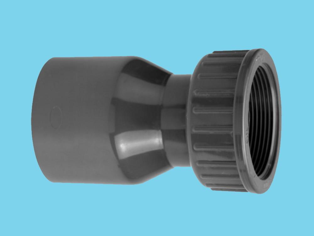 2/3 PVC Kupplung 50mm x 1,5