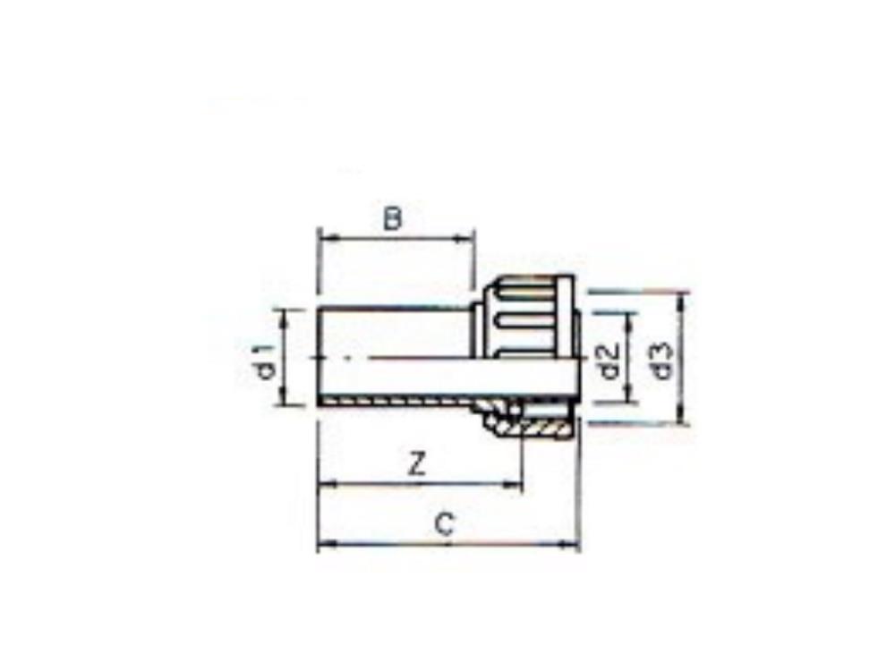 2/3 PVC Kupplung 32mm x 5/4
