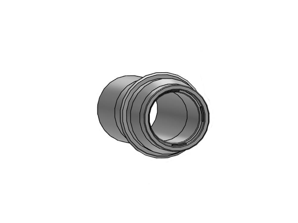 PVC Gießröhrchen + Ring 40mm