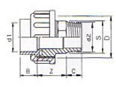 3/3 pvc Kupplung 63 x 2