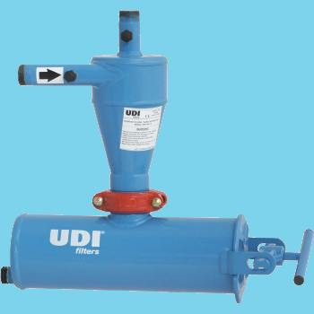 "Cyclonefilter UDI 4"" flens 120L"