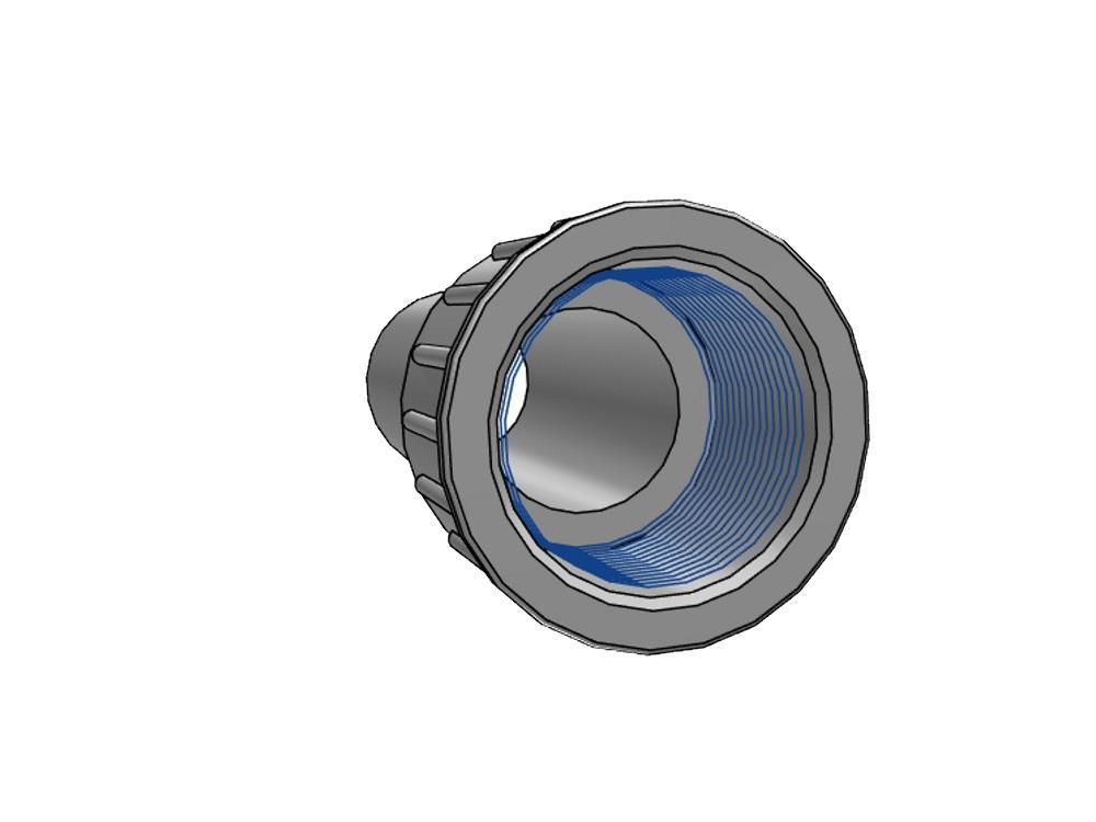 PVC Kupplung 2/3 - 40mm x 1,5