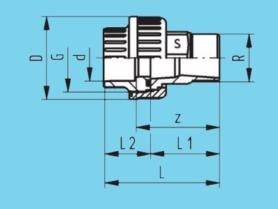 Kupplung 3/3 - PVC 63mm x 2