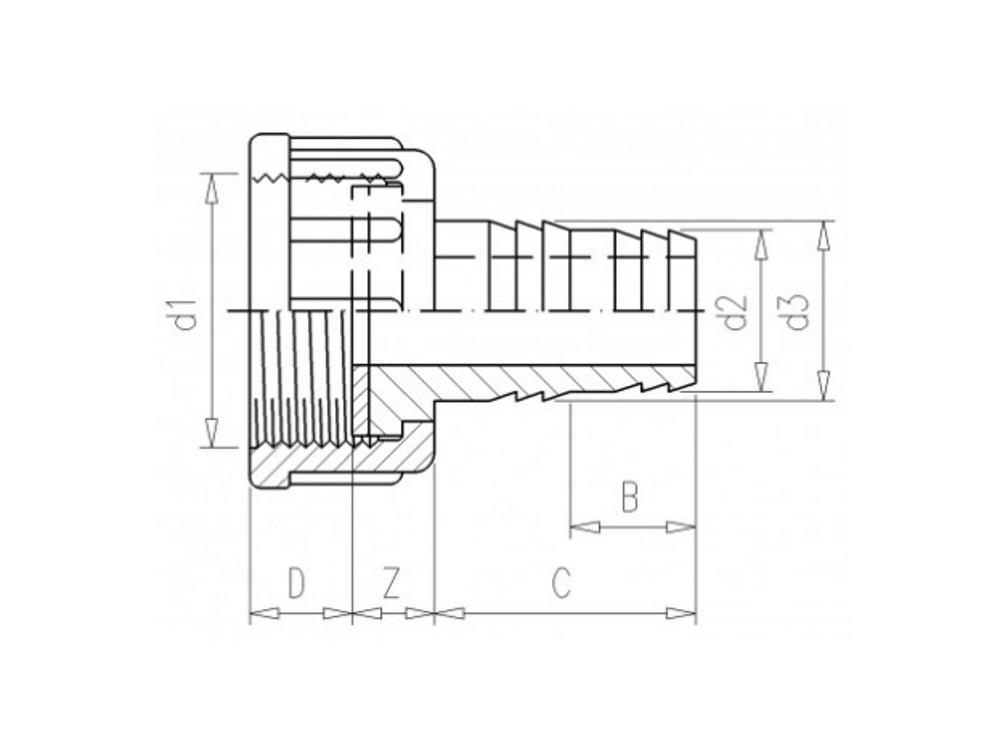 PVC Schlauchtülle 1,5
