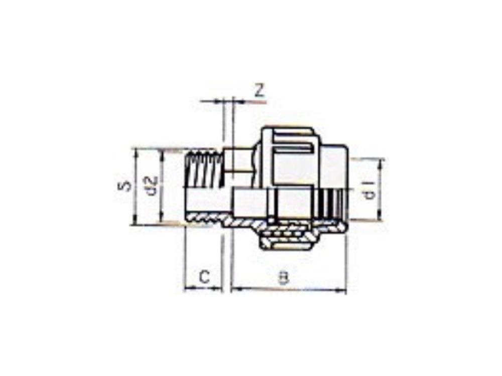 PE Kupplung 16mm x 1/2
