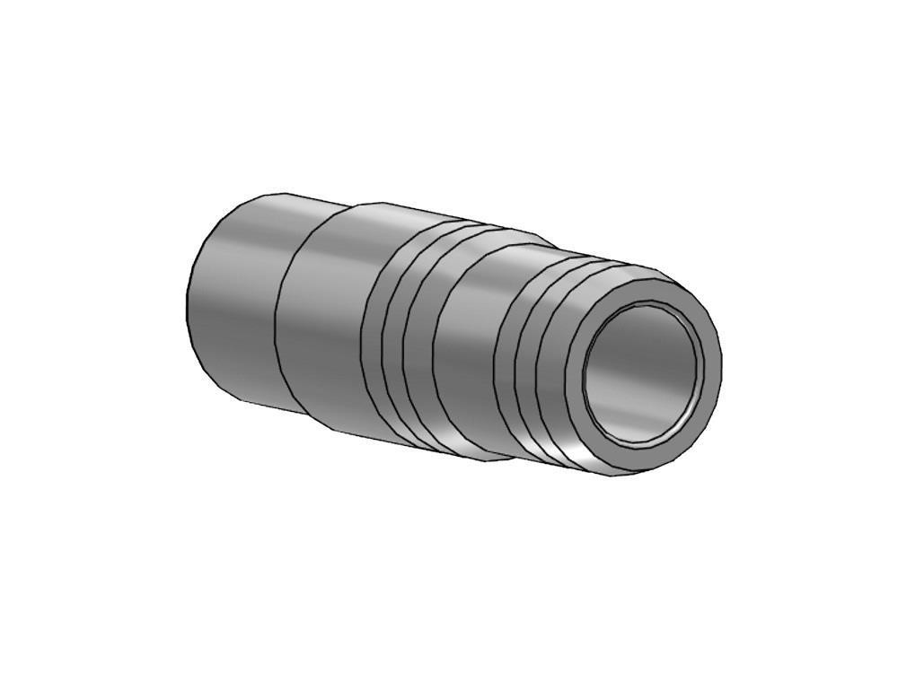 PVC Schlauchtülle Ø63 x 66/60mm