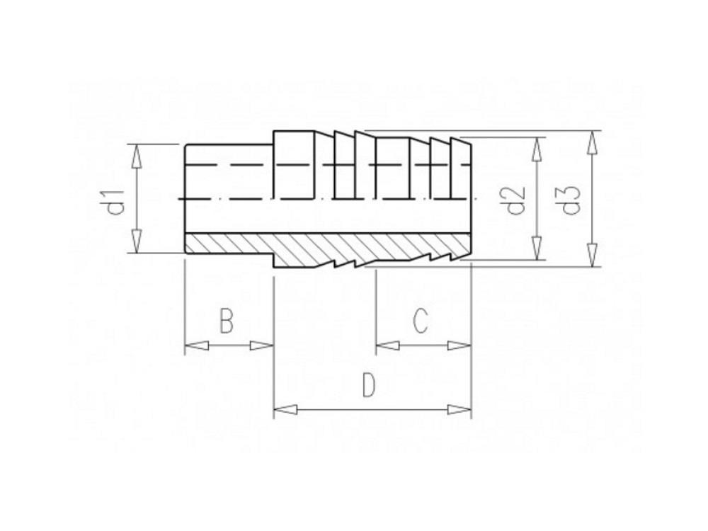 PVC Schlauchtülle 25 x 28/25mm