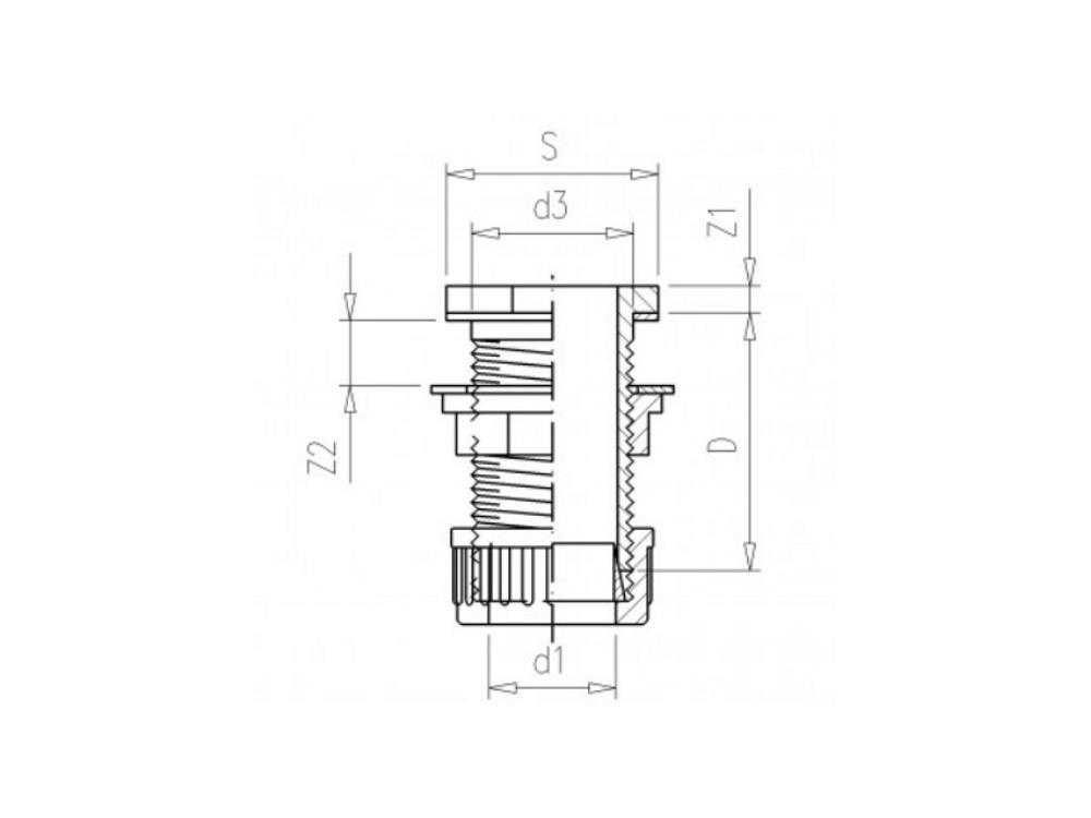 PVC Durchführung + Klemmkupplung 25mm x 1