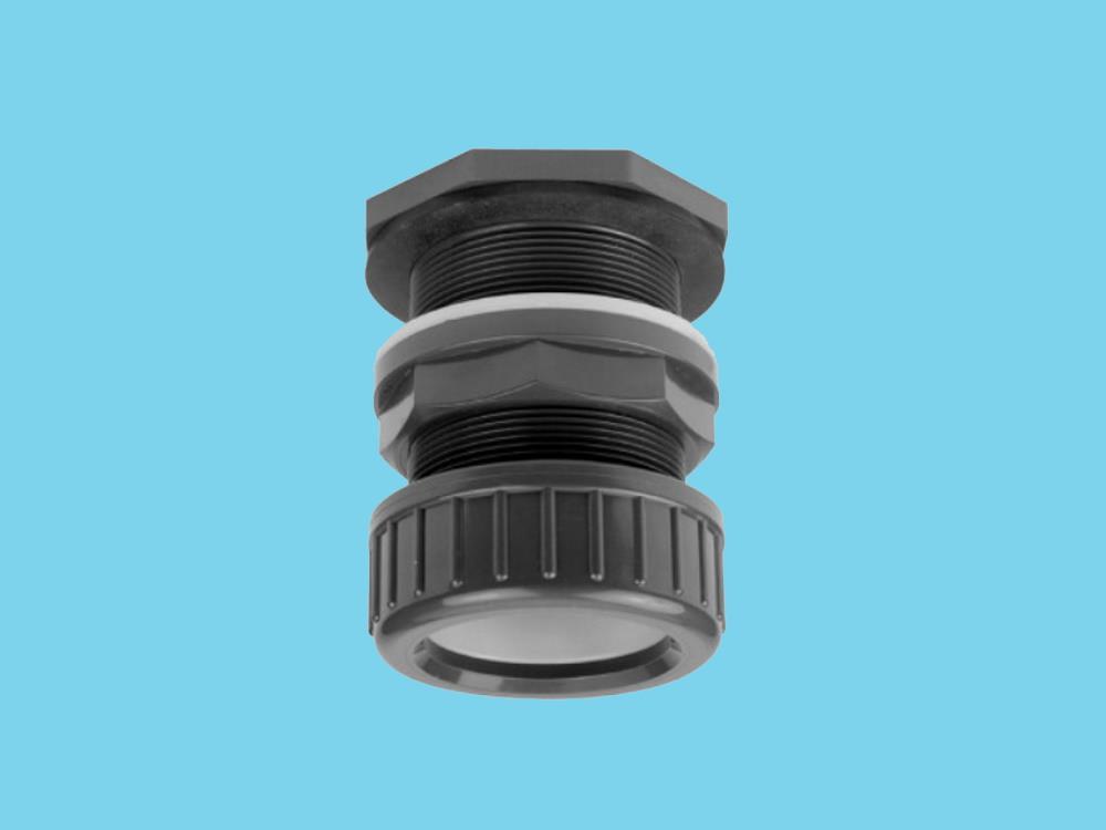 PVC Durchführung + Klemmkupplung 32mm x 5/4