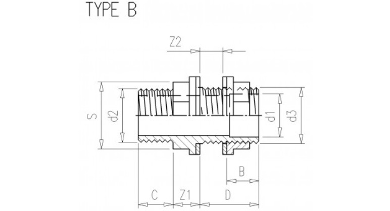 PVC Durchführung 32 x 5/4