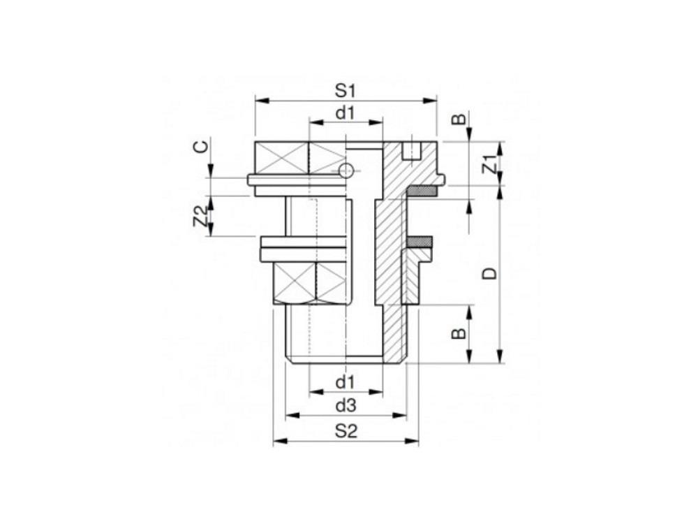 PVC Durchführung 16mm x 3/4