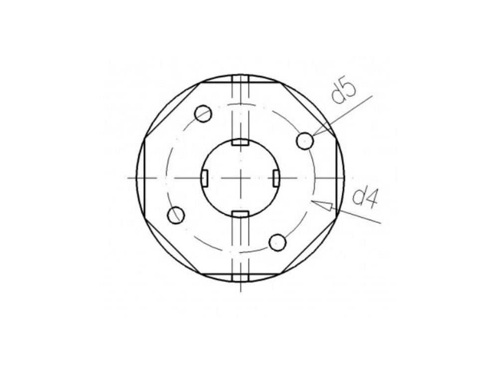 PVC Durchführung 50mm x 2-1/4