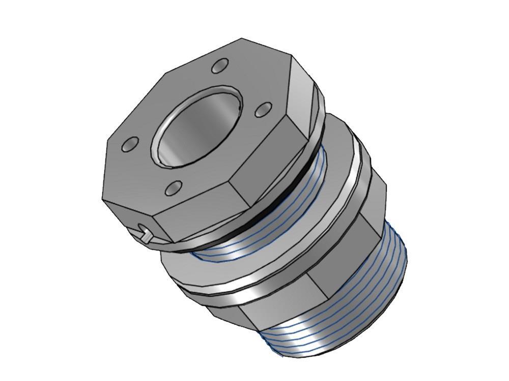 PVC Durchführung 60mm x 2-3/4