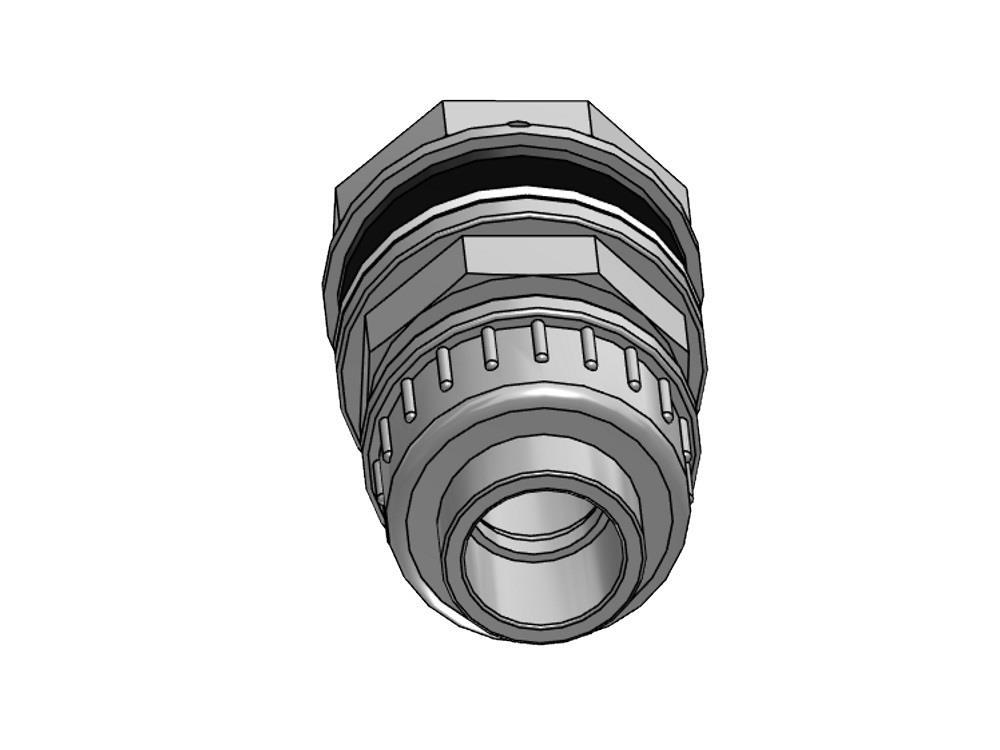 PVC Durchführung + Kupplung 25mm x 5/4