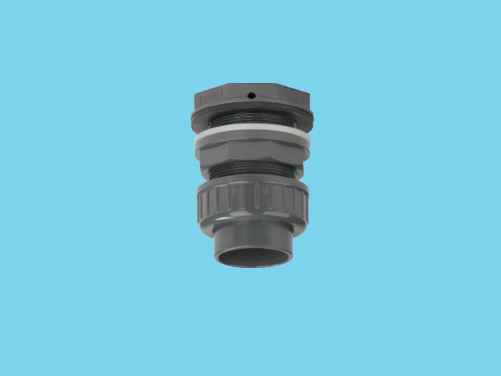 PVC Durchführung + Kupplung 50mm x 2-1/4