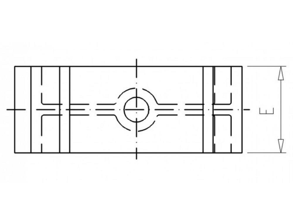 Distanzhalter H20mm für Rohrschellen  32