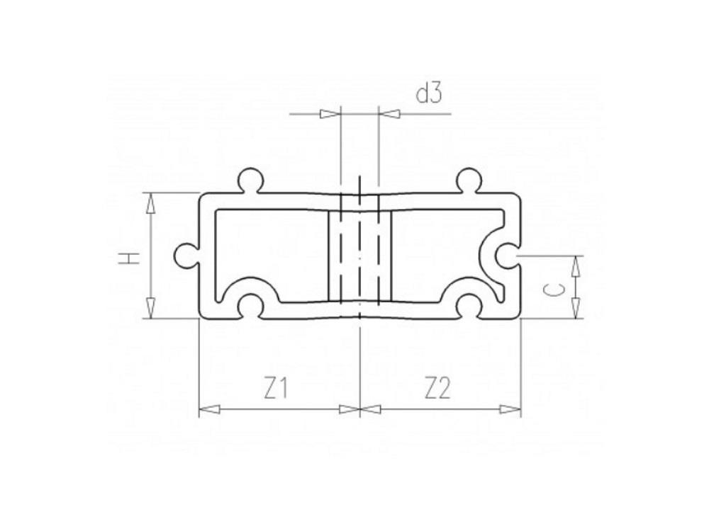 Distanzhalter H20mm weiß für Rohrschellen 16