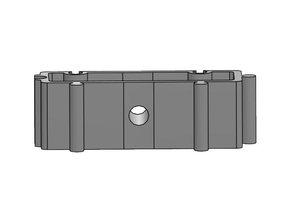 Distanzhalter H20mm weiß für Rohrschellen 20