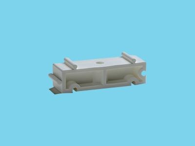 Distanzhalter H20mm weiß für Rohrschellen 32
