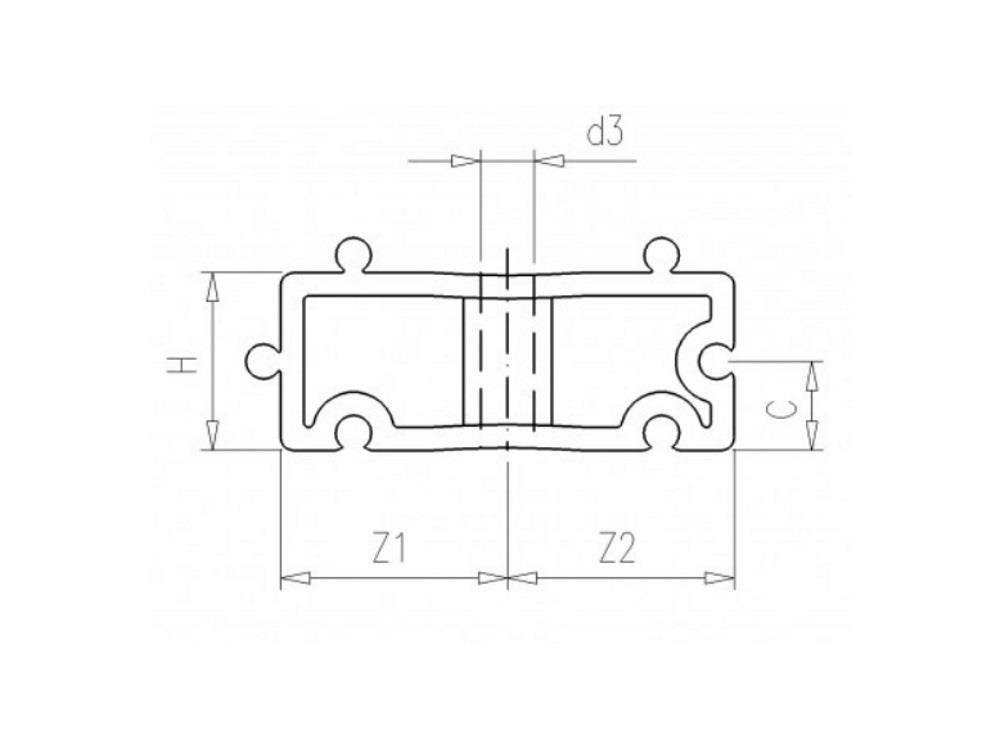 Distanzhalter H20mm weiß für Rohrschellen 40