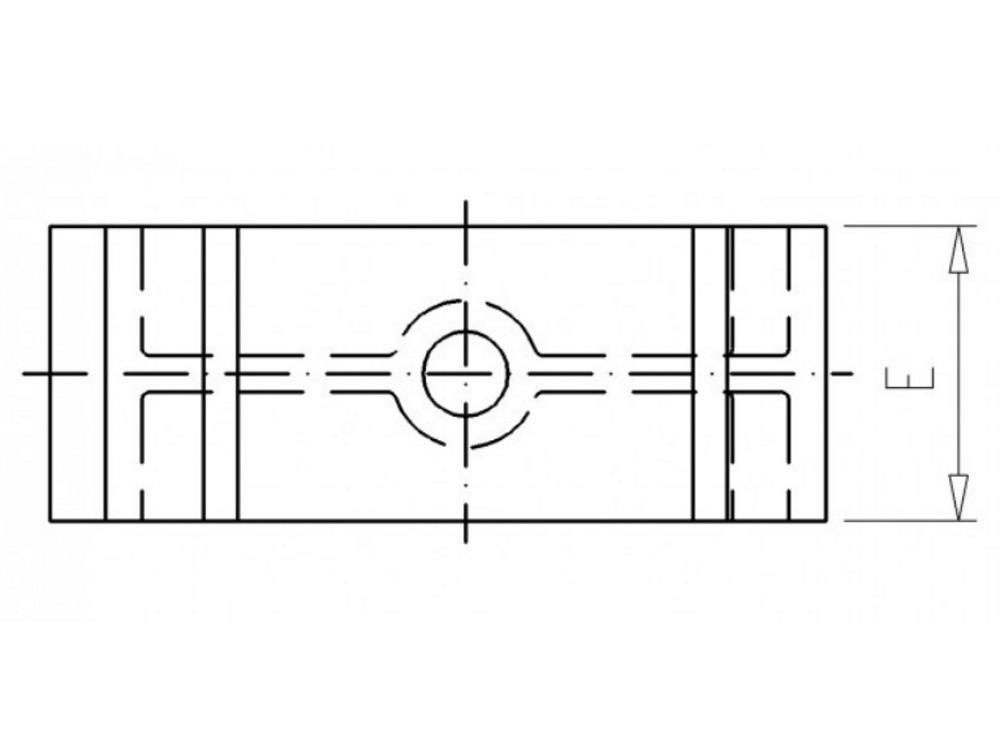 Distanzhalter H20mm weiß für Rohrschellen 50