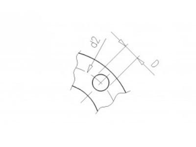 Flansch 225  pvc Stich  295 d36   8x22