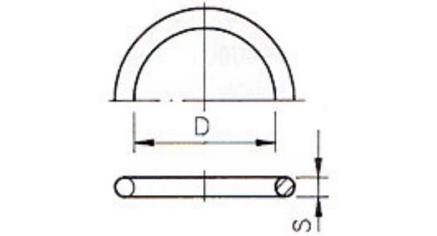 O-Ring 40,64x5,33 Spritzg. 40 fpm