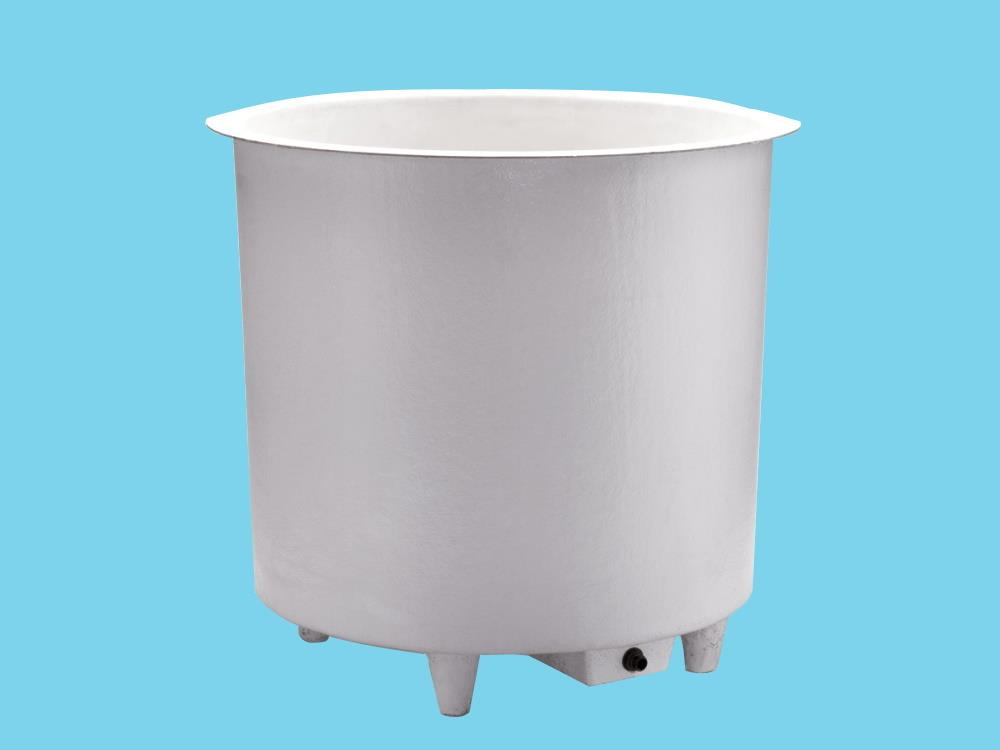 Polyesterbehälter 2200L rund Ø195x91cm hoch + Füßen & Ablauf
